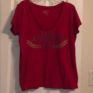 Old Navy Los Angeles California V-neck T-shirt